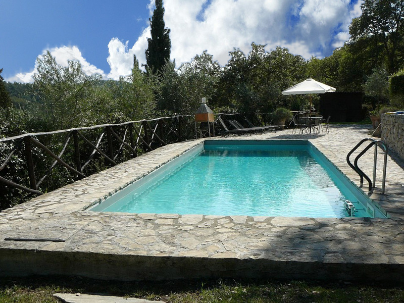 06 pool morelli mod - Apartments in hamlets RADDA IN CHIANTI (SI) PODERE MORELLI