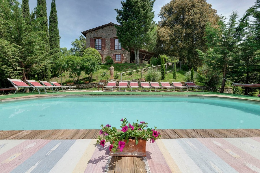 03 santa margherita piscina - Country houses GREVE IN CHIANTI (FI)